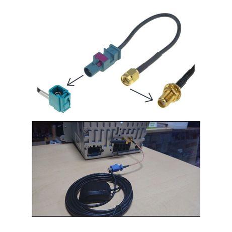 adaptor conector mufa FAKRA SMA antena gps navigatie china navigatii