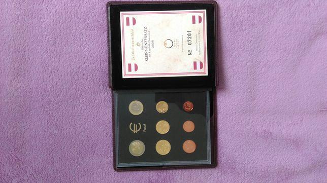 Colectie monede euro 2008 cu certificat austriac