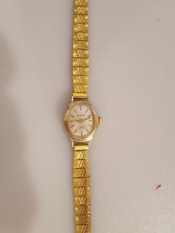 Ceas mecanic dama vintage ceas perfex 17 rubine incabloc placat aur