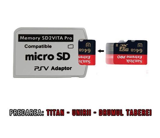 Adaptor SD2Vita MicroSd la PsVita Ultima Versiune optional Modare