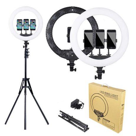 Lampa circulara LED lumina rece/calda, trepied geanta, Ring Light 35cm