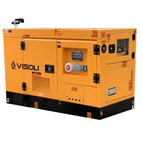 Generator Electric Diesel Visoli™ 20 kVA cu carcasa Insonorizata