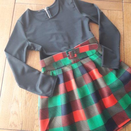 Rochie elegantă in carouri (12-14ani)