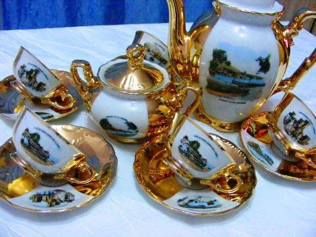 Serviciu 6 pers. Vintage Bavaria 22k Gold Rieber Mitterteich