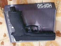 Pistol airsoft hdp 50 Bile cauciuc 11-20 jouli /stoc / auto aparare