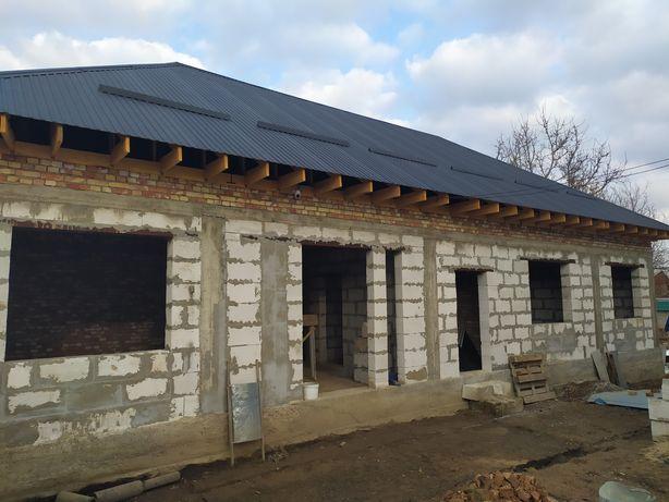 дом 165м2 не достроен