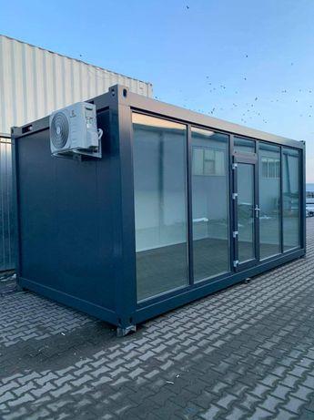 Container birou vitrina fast-food magazin de prezentare containere gri