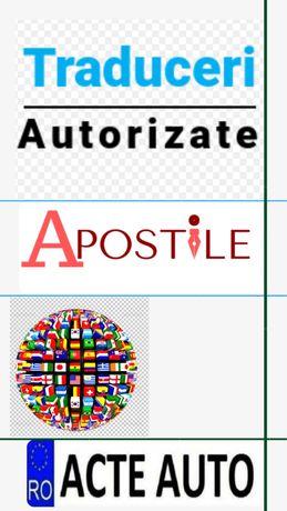 Traduceri legalizate/ Apostile/ acte auto