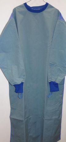 Защитна операционна престилка за многократна употреба-синя