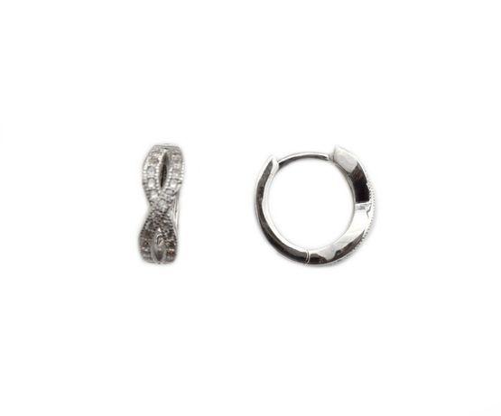 Cercei argint infinit cu zirconiu - DA211 - Transport Gratuit Curier