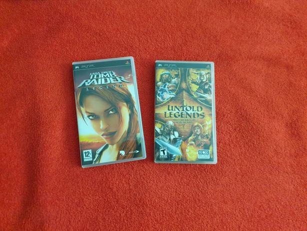 Bundle PSP Tomb Raider Legend si Untold Legend