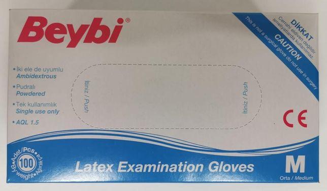 Mănuși latex  ușor pudrat