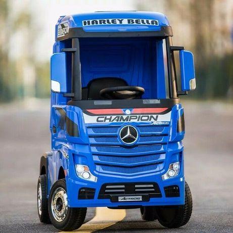 Camion electric pentru copii Mercedes Actros 4x35W 24V #Blue