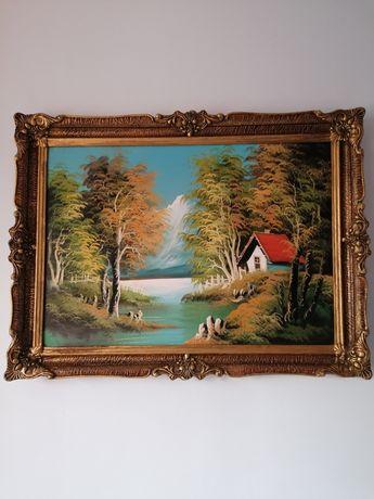 Vând tablou pictat pe panza in ulei