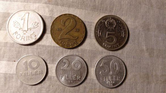 Лот унгарски монети -1967,1969,1970,1971 колекционерски