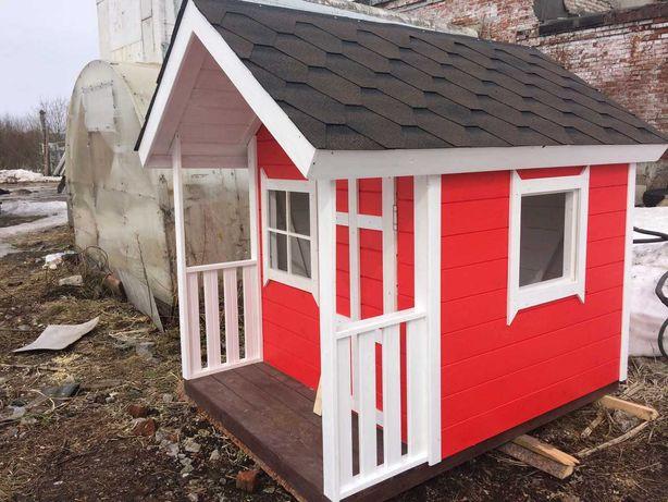 Детские деревянные игровые домики