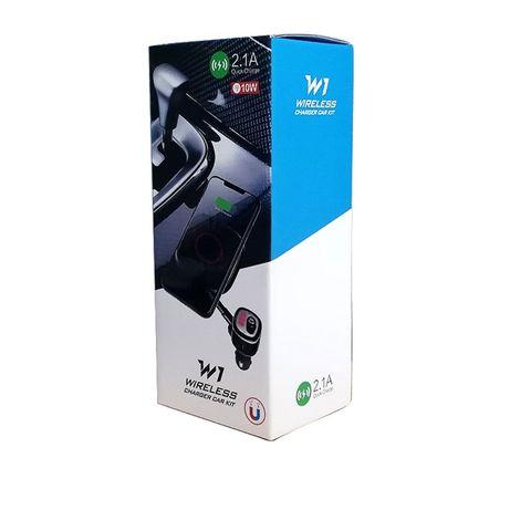 Incarcator auto wireless W1 cu incarcare rapida 10w