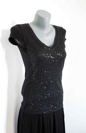 Тениска блуза черна пайети Laura Scott