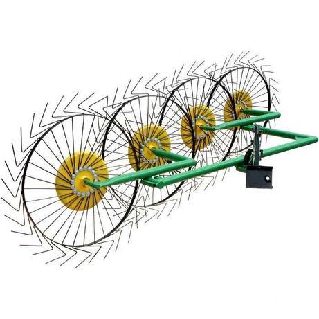Grebla pentru motocultor tractor mic cu 4 sori (tip soare).