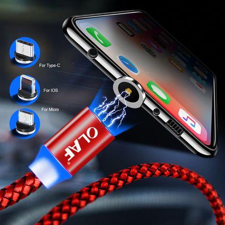 Магнитно заряден кабел Micro USB iPhone тип C