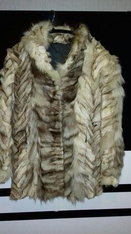 Дамско палто от естествен косъм