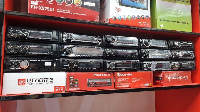 Автомагнитола Пионер Элемент5 JVC Бос Магнитафон Автозвук. Калонки