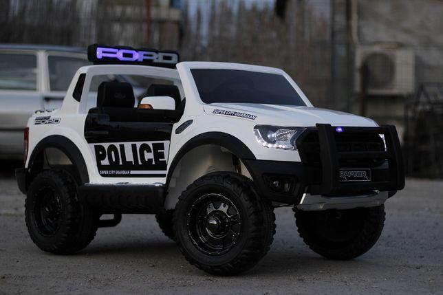 Masinuta electrica Kinderauto Ford Ranger F650 POLICE STANDARD #Alb