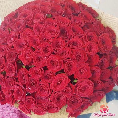 Букет из 101 розы в Астане