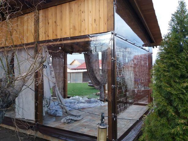 Închideri terase cu folie transparentă