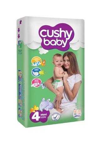 Scutece copii, Cushy baby, 60 buc/set, Marime 4, 8-18 Kg, 8-18 luni