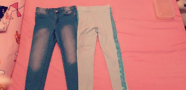 Lot blugi+pantaloni colanti masura 116