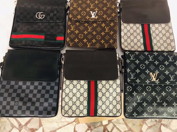Нова Мъжки Чанти от еко кожа (Gucci ,Louis Vuitton и др.)