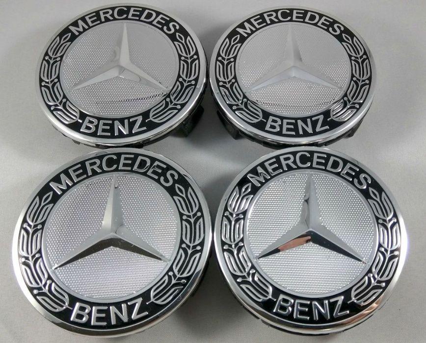 Set 4 Capace Mercedes negru/crom pentru jante originale MERCEDES Suceava - imagine 1