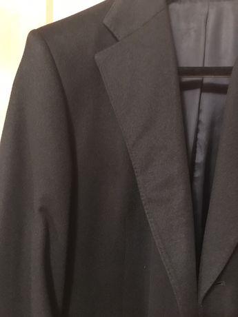 Palton Hugo Boss,marime 54,original 100%,albastru inchis,cahsmere+lana