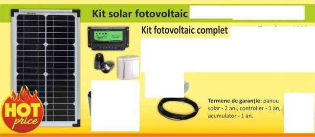 Kit Complet Curent Electric cu panouri solare 300W Ofer Montaj 7