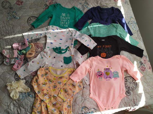 Бебешки детски бодита 9-12 месеца лот
