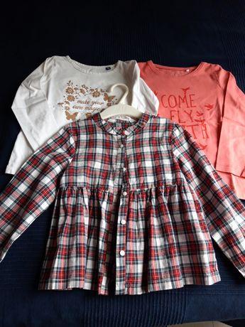 Блузки за момиче 3-4год 3 бр