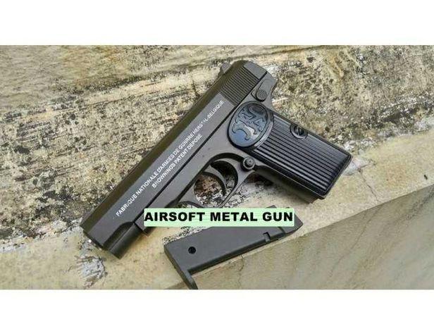 Pistol Airsoft Browning calibru 6 mm 1000 de bile 1 j preț promoțional