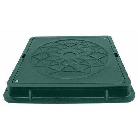 Capac pătrat pentru grădină 710*710mm, verde
