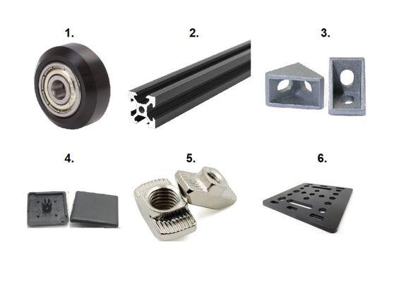 Колела с лагер за V-Slot конструктивен алуминиев профил CNC Openbuilds