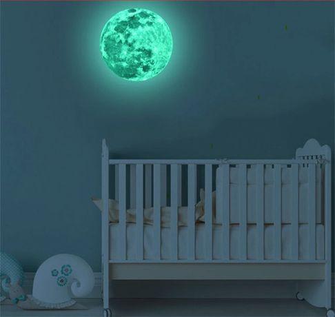 Abțibild Lună Fosforescentă Mare