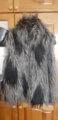 Дамски елек с дълъг косъм