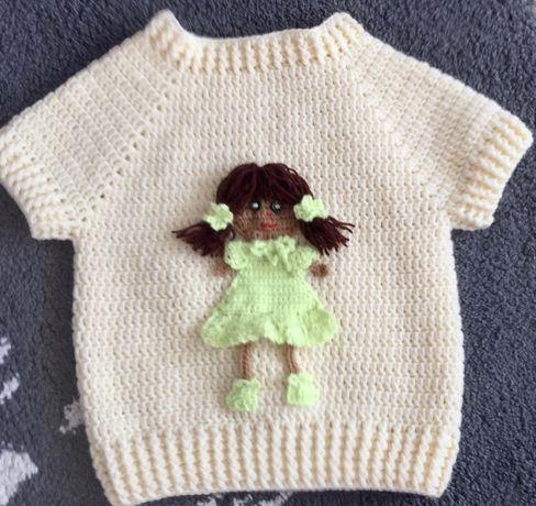 Ръчно плетена блуза 5-6 г