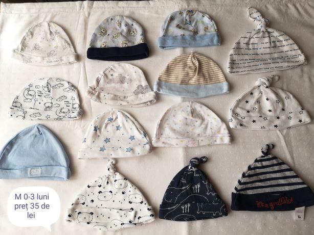 Căciulițe copii 0-3 luni, 0-6luni, 6-12 luni