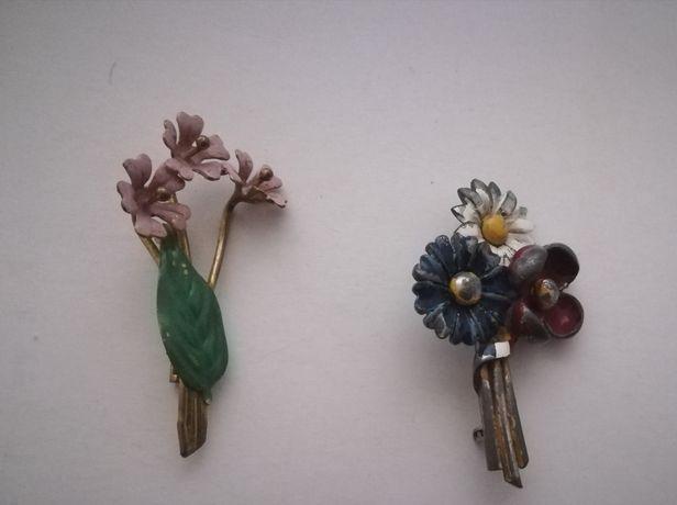 Broșe vintage flori colorate