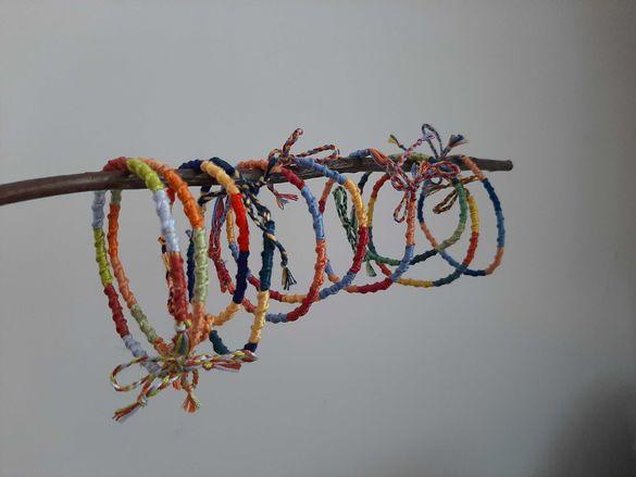 Hand made . Ръчно плетени гривни