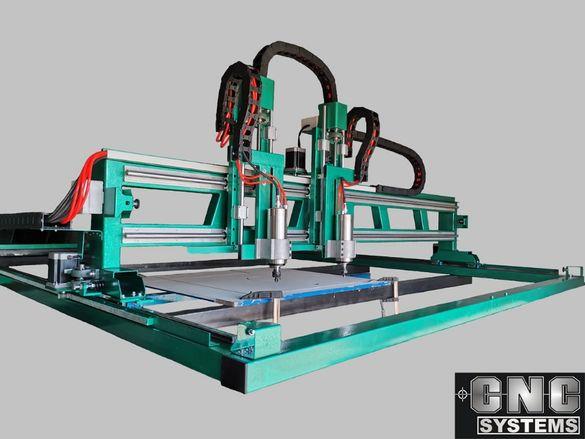 CNC / ЦПУ Рутер, Фреза с два шпиндела от производител