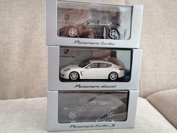 Vand machete Porsche Panamera MK1(gen I) alb, gri și negru, 1/43