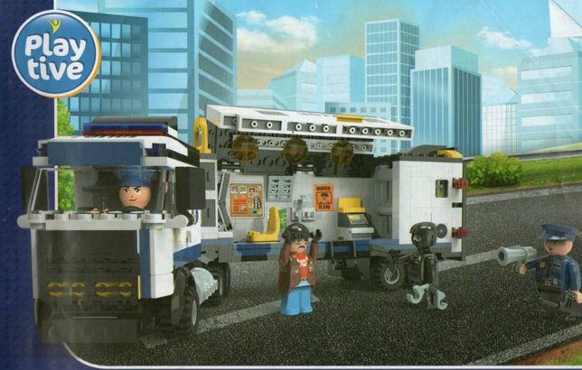 Lego Playtive Unitate mobila de politie,Centru de comanda mobil,Sectie