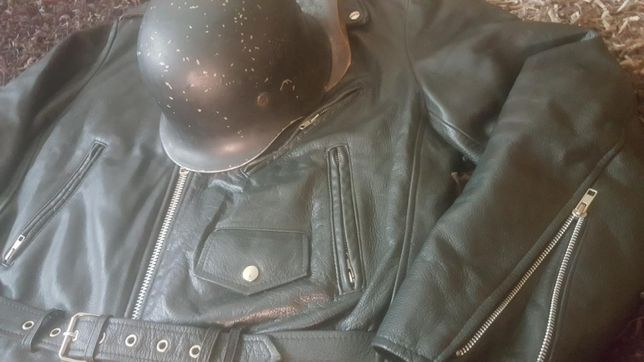 geacă custom choper motociclist piele naturală